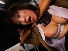 Submissive Asian slut has a guy shoving his hard pole down