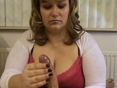 Eager mom with large melons tit job