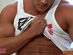 big dick bodybuilder rimjob with cumshot