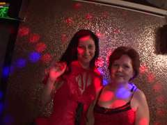 Granny and youthful chick in the swinger party