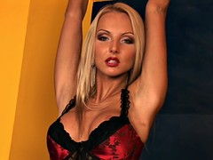 Solo By Blonde With Stockings And Corset