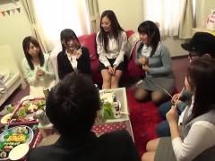 Tokyo hot Japanese group sex creampie