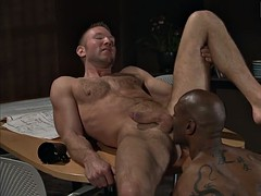 hot black dad fucks his coworker