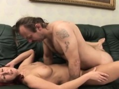 Busty milf gets pussy banged by horny amputee