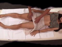 amazing babe has a massage than she gets fucked