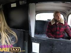 Female Fake Taxi Sexy Englishman pays for czech taxi ride in cum