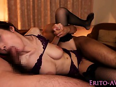 Bigtitted japanese spitroasted then squirts