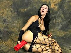 Her butt is gigantic warehouse for anal dildo
