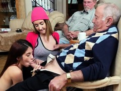 Broke Teens Play With Rich Old Men For Money