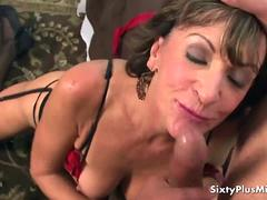 Anal With Granny in Lingerie