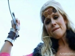 Breasty Viking Kelly Madison cant summon the will to slay a dragon but she can blow his big cock.