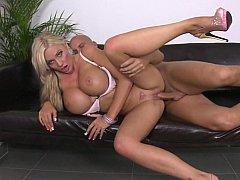 Blonde with huge jugs