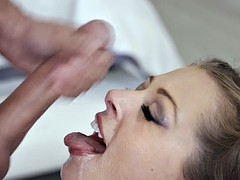 Sexy slut gives up her throat