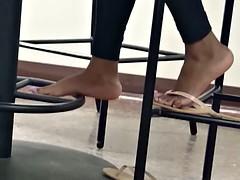 Candid Ebony Feet in Cafeteria 12