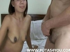 Oriental Thai Amateur couple xxx Homemade porno vid bushy skynny
