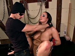 Blindfolded bigtit punished and whipped