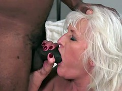 gorgeous granny banged by big black dick