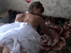 russian bride fucking and creampie