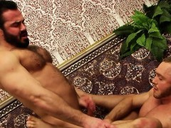 Muscle son anal sex with cumshot