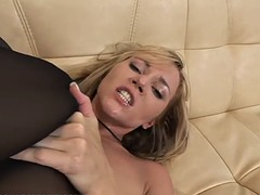 two naughty lesbians like to masturbate with monster sex toys