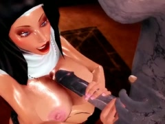 Crazy Exorcise cartoon with huger dick