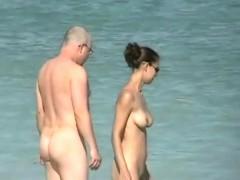 An extremely alluring nude beach voyeur vid
