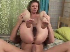 Slutty mature bitch has her twat plowed