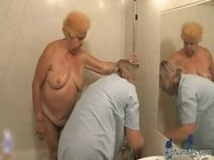 Dirty old lady goes insane getting her part1