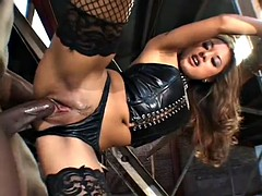 smoking hot asian babe gets nasty and sucks a black cock