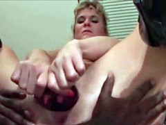 Cuckold MILF fisted by BBC bull Sissy just watches