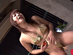jap dude makes cute asian kurara iijima squirt in non-stop mode