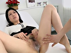 Japanese lesbian spitting massage clinic Subtitles