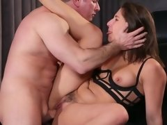 Teen gets excited having passionate sex with experienced fucker
