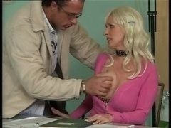 Busty German Old Fucking in Office