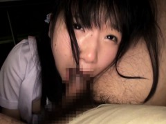 Petite japanese schoolgirl sucking cock