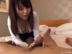 stretching the pussy of a japanese nurse who is looking delicious