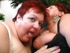 a duo super adult bbw in threesome action