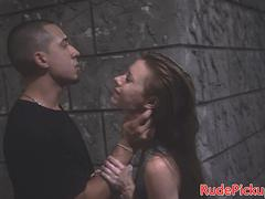 Stranded teen roughfucked and deepthroated