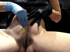 Self Brazilian waxing