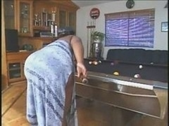 Big beautiful women On The Pool Table