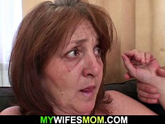 big tits mother inlaw rides cock after shower