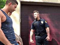 dylanlucas Trent Ferris rides a hard cock cop