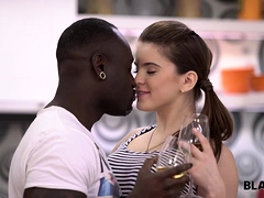 BLACK4K. Sweet chick Karol Lilien really enjoys sex with...