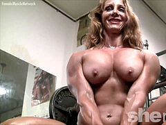 nude woman Bodybuilder mind-blowing Red Headed Muscle