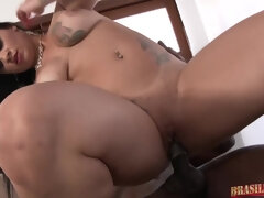 Thick Brazilian Stripper Fuck's Big Black Pole Repairman - cristine castelary in interracial anal ass fucking