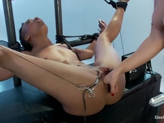 Nikki Darling Spread Wide and Electro Fucked!