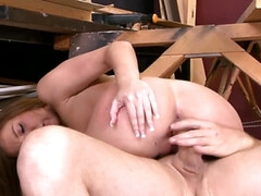 Maddy O'Reilly Teenage pussy spread wide by thick cock