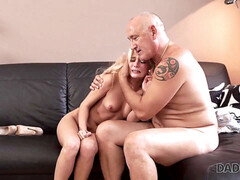 Old man young girl, daddy4k, blonde