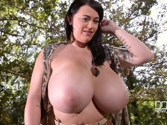 Voluptuous Private - Curvy Soldier Gets Naked In The Forest