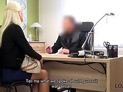 Loan4k. blond beauty pays with xxx for the future of her...
